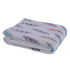 Better Living Velvety Soft Colorful Feathers Throw