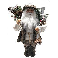 18.5-in. Faux-Fur Santa Christmas Decor