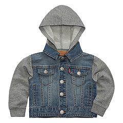 Baby Boy Levi's Indigo Trucker Hooded Denim Jacket