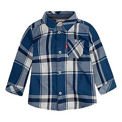 Baby Boy Levi's® Plaid Woven Button-Up Shirt