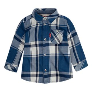 Baby Boy Levi's® Plaid Woven Button-Up Shirt