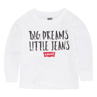 "Baby Boy Levi's ""Big Dreams Little Jeans"" Graphic Tee"