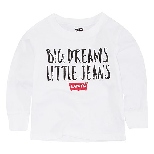 """Baby Boy Levi's """"Big Dreams Little Jeans"""" Graphic Tee"""
