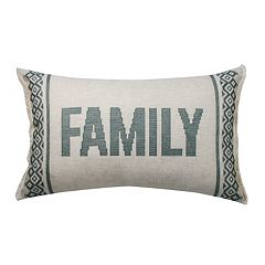 SONOMA Goods for Life™ Ultimate Cross-Stitch Feather Fill Oblong Throw Pillow