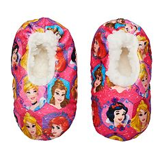 Disney Princess Snow White, Belle, Cinderella, Ariel & Aurora Toddler Girl Fuzzy Babba Slipper Socks