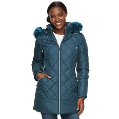 Women's d.e.t.a.i.l.s Hooded Quilted Walker Jacket