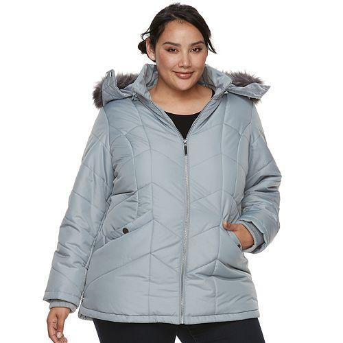 5dfa77c6208 Plus Size d.e.t.a.i.l.s Hooded Quilted Jacket