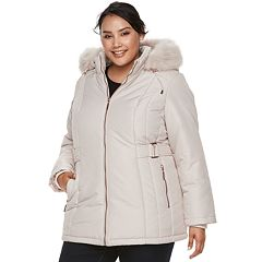 Plus Size d.e.t.a.i.l.s Hooded Quilted Heavyweight Jacket