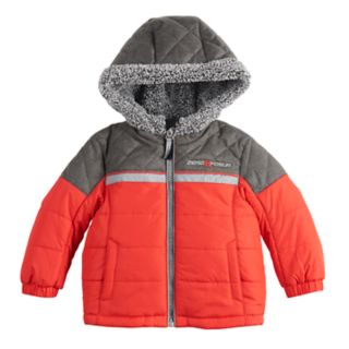 Baby Boy Mini ZeroXposur Mason Quilted Heavyweight Hooded Jacket