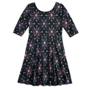 Girls 7-16 & Plus Size SO® Elbow Sleeve Graphic Print Skater Dress