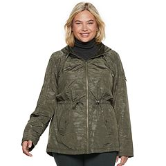 Plus Size d.e.t.a.i.l.s Hooded Reversible Anorak Jacket