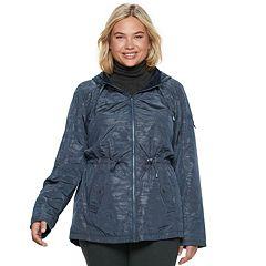 Plus Size d.e.t.a.i.l.s Hooded Reversible Anorak Jacket