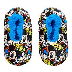 Disney's Mickey Mouse, Goofy & Donald Duck Toddler Boy Fuzzy Babba Slipper Socks