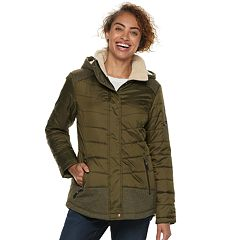 Women's Free Country Hooded Mixed-Media Quilted Jacket