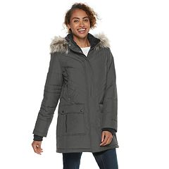 Women's Free Country Faux-Fur Trim Hooded Quilted Jacket