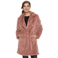 Women's Sebby Collection Faux-Fur Coat