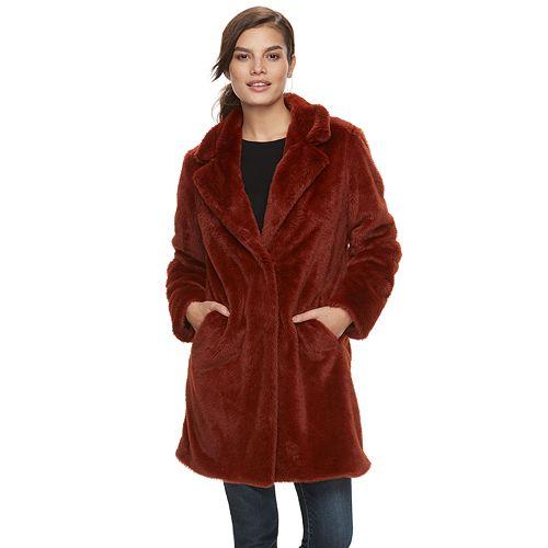 Women's Sebby Collection Faux-Fur Coat
