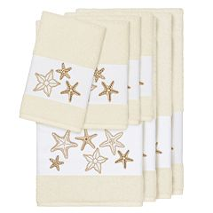 Linum Home Textiles 8-piece Lydia Embellished Bath Towel Set