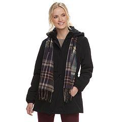Women's Gallery Hooded Faux-Silk Anorak Jacket