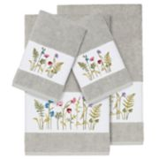 Linum Home Textiles 4-piece Serenity Embellished Bath Towel Set