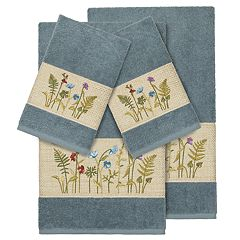 Linum Home Textiles 4-piece Serenity Embellished Bath Towel Set