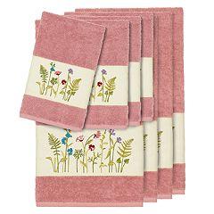 Linum Home Textiles 8-piece Serenity Embellished Bath Towel Set