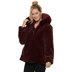 Women's Gallery Hooded Faux-Fur Jacket