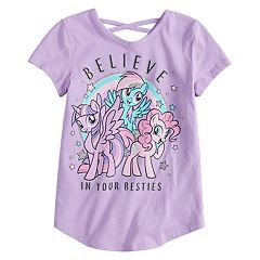 Girls 4-10 Jumping Beans® My Little Pony 'Believe In Your Besties' Glittery Graphic Tee