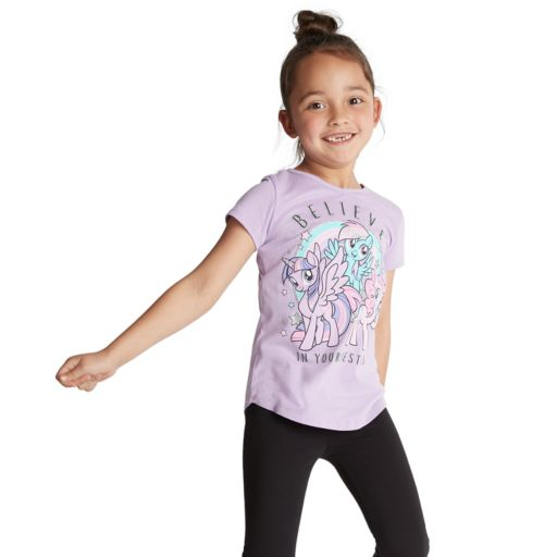 """Girls 4-10 Jumping Beans® My Little Pony """"Believe In Your Besties"""" Glittery Graphic Tee"""