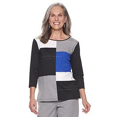 Women's Alfred Dunner Studio Colorblock Nailhead Top