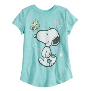 Girls 4-10 Jumping Beans® Slubbed Snoopy Graphic Tee