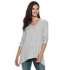 Women's Apt. 9® Shark-Bite Hem Ruched Tunic
