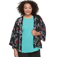 Juniors' Plus Size Candie's® Floral Kimono