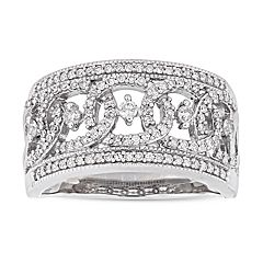 Stella Grace 10k White Gold 1/2 Carat T.W. Diamond Openwork Ring
