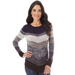 Women's Apt. 9® Mitered Crewneck Sweater