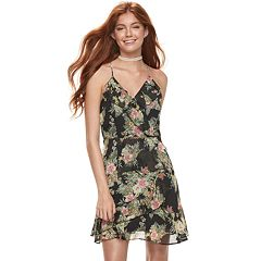 Juniors' Almost Famous Ruffled Floral Dress