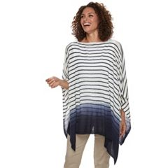 Women's Chaps Ombre Striped Poncho
