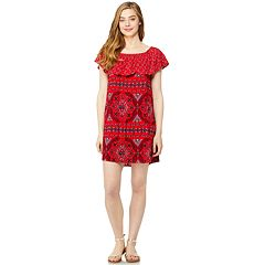 Juniors' Wallflower Gauze Off-the-Shoulder Dress