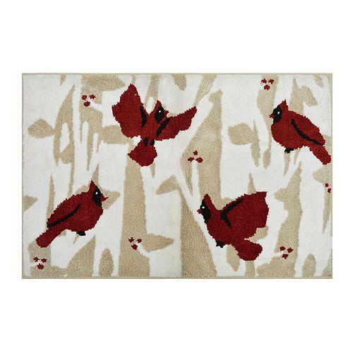 St. Nicholas Square® Supersoft Cardinals Holiday Rug - 24'' x 36''