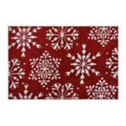 St. Nicholas Square® Supersoft Snowflake Holiday Rug