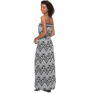 Juniors' Trixxi Strapless Maxi Dress