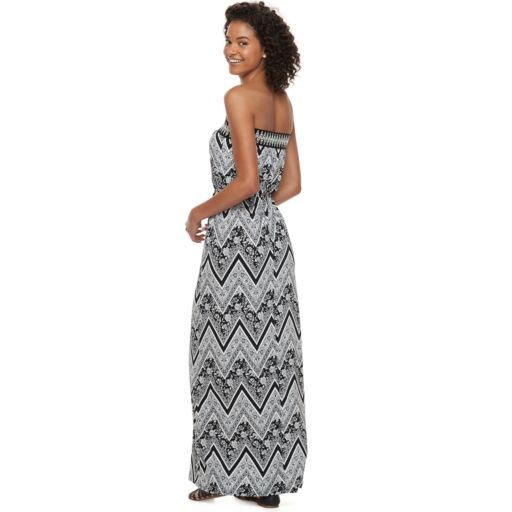 Juniors' Trixxi Strapless Maxi Dress