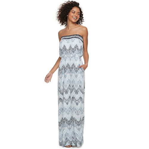 52c96bcecde Juniors  Trixxi Strapless Maxi Dress