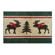 St. Nicholas Square® Supersoft Moose Holiday Rug - 24'' x 36''