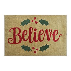 St. Nicholas Square® Supersoft Believe Holiday Rug - 24'' x 36''