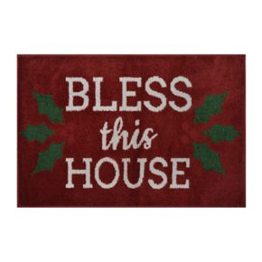 St. Nicholas Square® Supersoft Bless this House Holiday Rug - 24'' x 36''