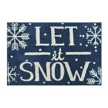 St. Nicholas Square® Supersoft Let it Snow Holiday Rug - 24'' x 36''