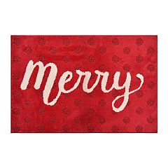 St. Nicholas Square® Supersoft Merry Holiday Rug - 24'' x 36''