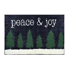 St. Nicholas Square® Supersoft Peace & Joy Holiday Rug - 24'' x 36''