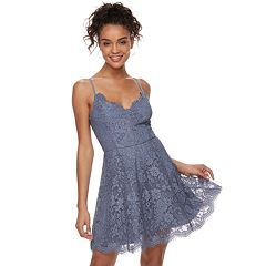 Juniors' Trixxi Lace Skater Dress